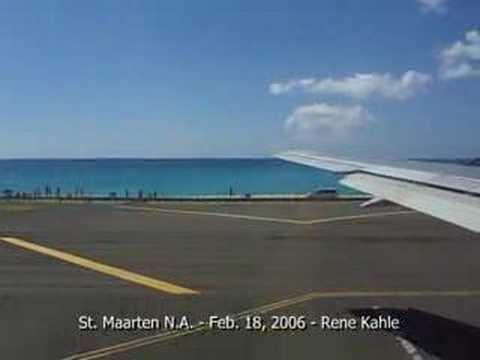 Takeoff from St. Maarten