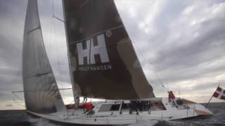 Deckchute on 65 footer in 20 knots breeze HD