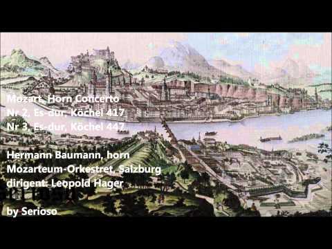 mozart,horn concert , no 2,no 3, baumann