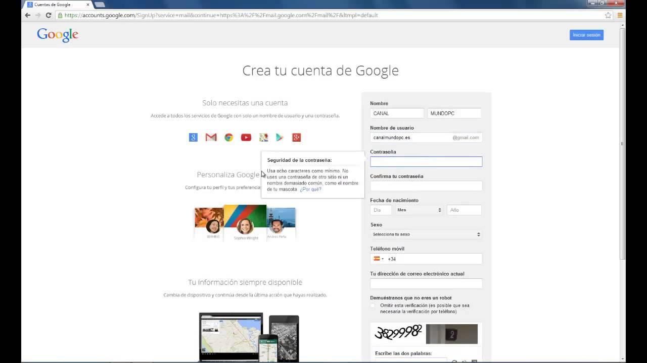 Cómo Crear Un Correo Electrónico En Gmail Youtube