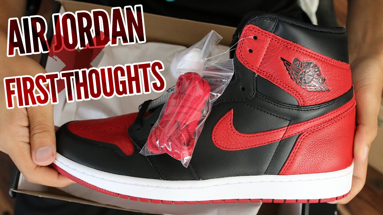 0b9587207c8 Air Jordan 1 Bred Banned 2016 First Thoughts!!! - YouTube