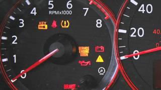 2012 NISSAN Altima - Warning and Indicator Lights