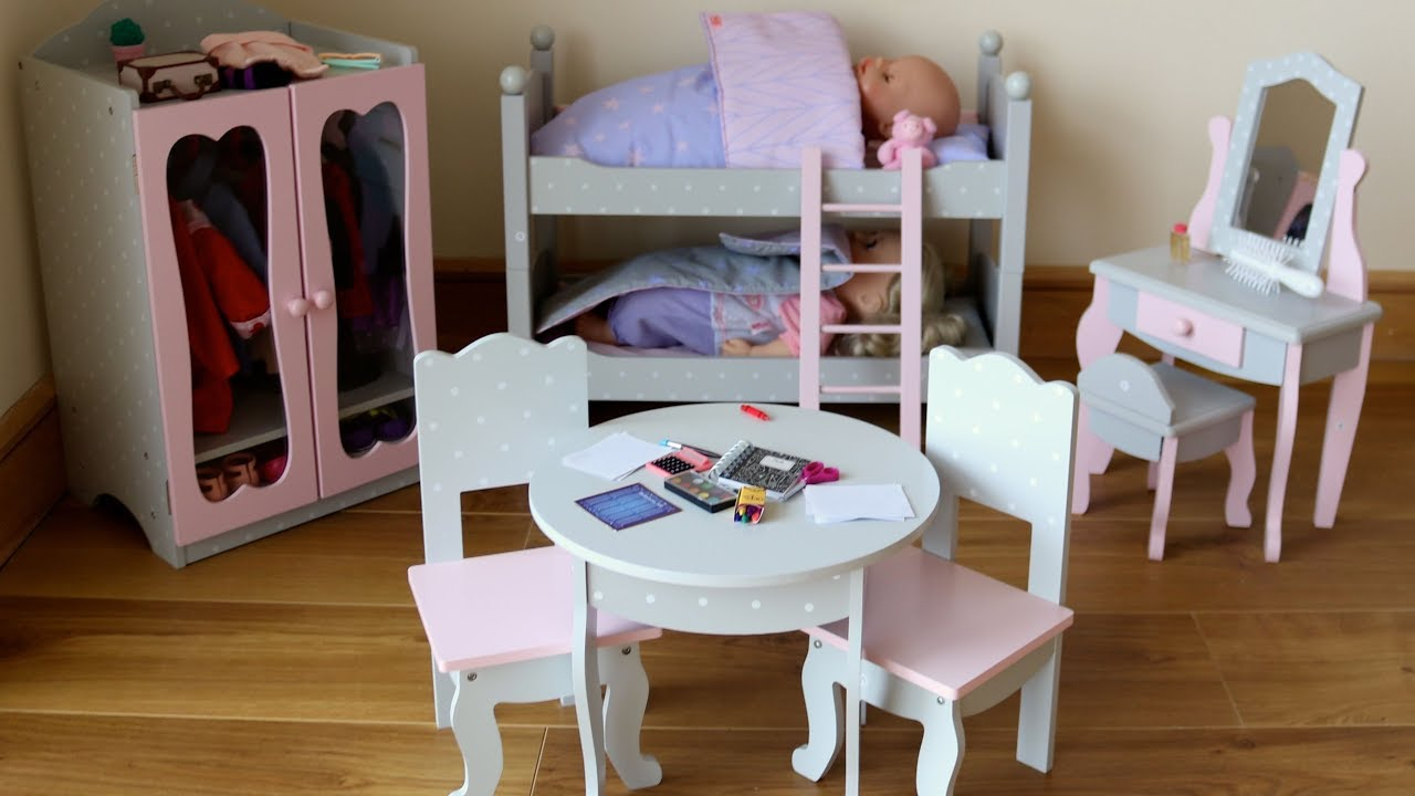 Baby Dolls Bunk Bed Wardrobe Dressing Table Baby Born Baby - Anna bell baby wardrobe