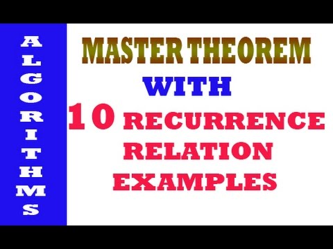 Recurrence Relation Problems Solved Using Master Theorem Youtube