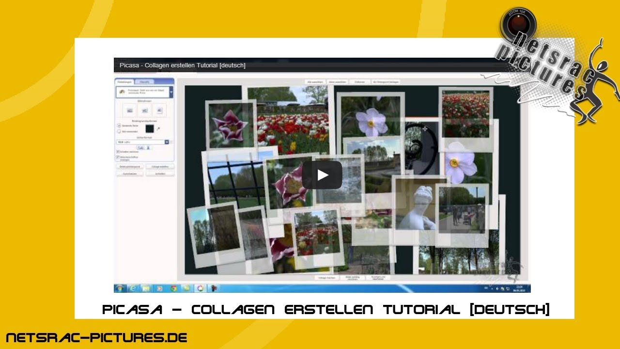 picasa collagen erstellen tutorial deutsch youtube. Black Bedroom Furniture Sets. Home Design Ideas