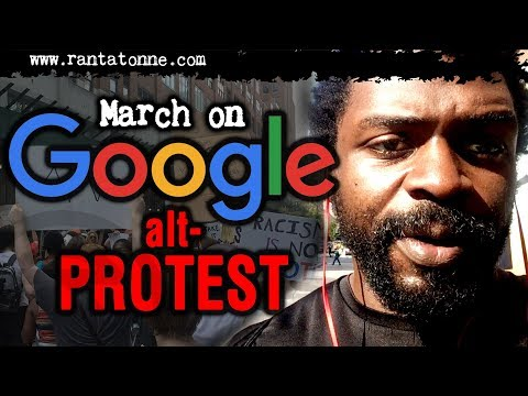 Protesting the March on Google NYC 8/19/17
