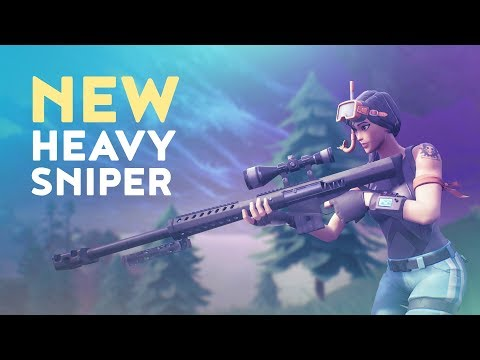 THE NEW HEAVY SNIPER ADDED TO THE GAME! (Fortnite Battle Royale)