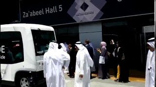 H.H. Shaikh Hamdan test drives driverless vehicle