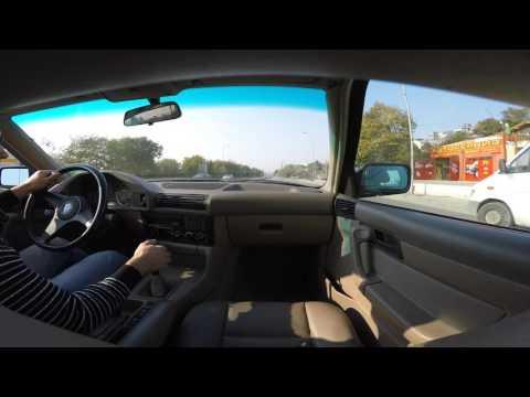 BMW e34 525i 91' no vanos - Urban & Extra Urban(Village) driving [4K GoProHero]