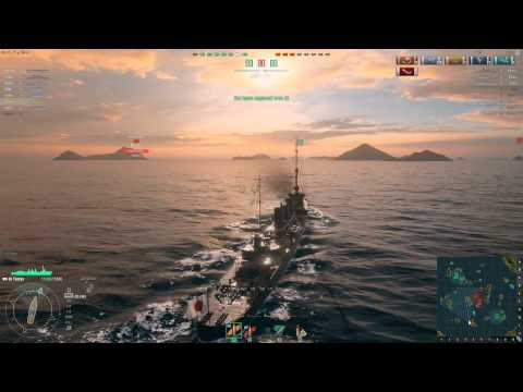 World Of Warships - Japanese Cruiser Tenryu - Torpedo War