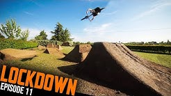 RIDING THE HUGE NEW BACKYARD DIRT JUMP!! LOCKDOWN EP11