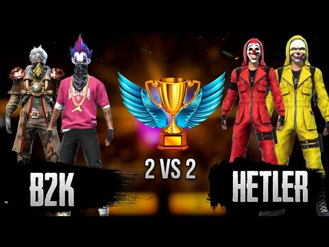 B2k Vs Hetler || Free Fire 2 Vs 2 Clash Squad || Who Will Win ?