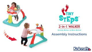 Tiny Steps 2-in-1 Activity Walker Assembly Video