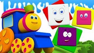 bob o trem | Aprenda cores | Vídeo educacional para crianças | Colors Ride With Bob | Kids Songs