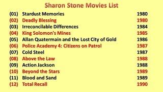 Sharon Stone Movies List