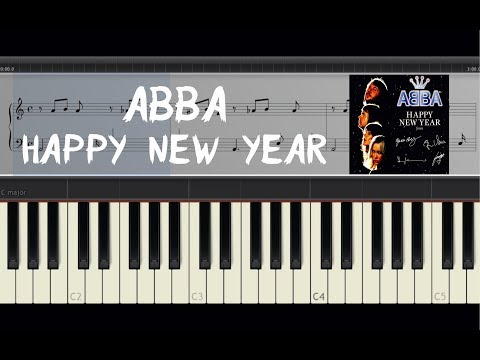 ABBA  Happy New Year  Piano Tutorial  Amadeus Synthesia Sheets