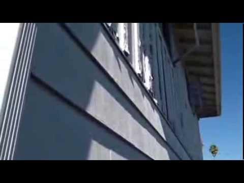 Asbestos And Board Batten Siding Before Installation