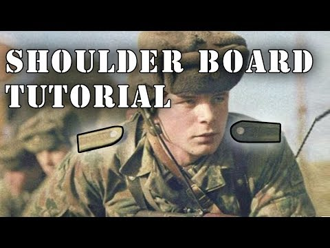 How To Attach East German Shoulder Boards