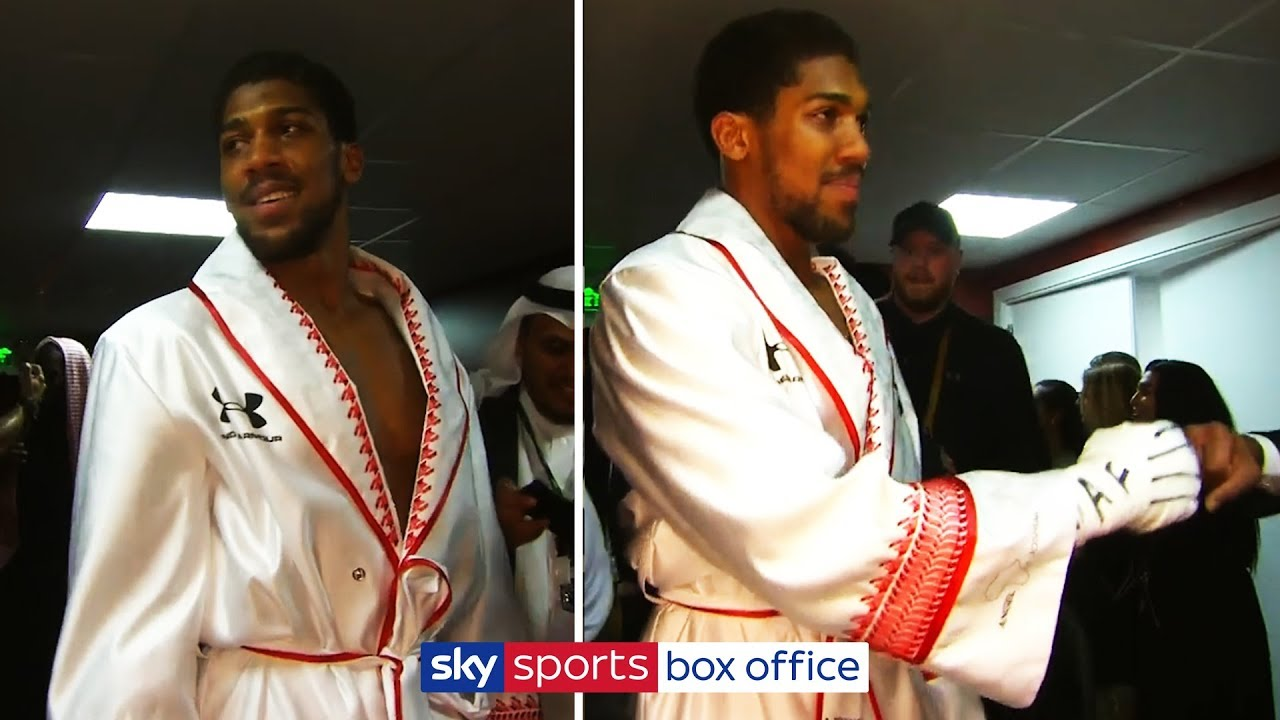 EXCLUSIVE: Anthony Joshua raw backstage footage after victory over Andy Ruiz Jr