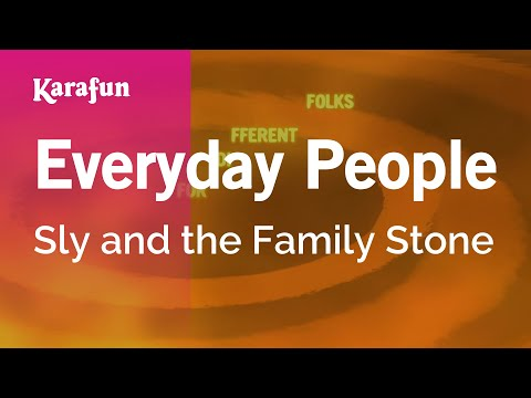 Karaoke Everyday People - Sly And The Family Stone *