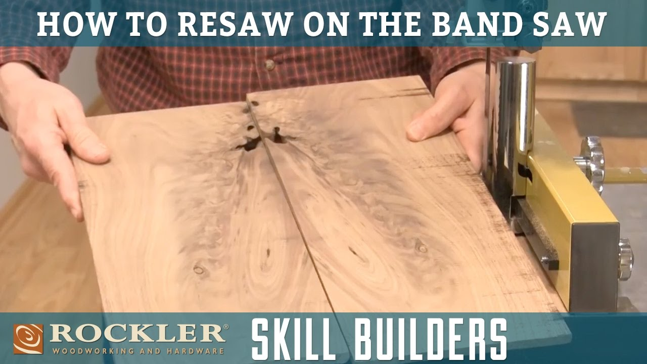how to resaw lumber with a band saw   rockler skill builders