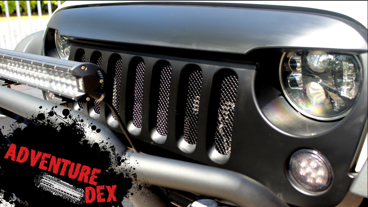 Jeep Wrangler Grill Mesh Insert Kit Youtube