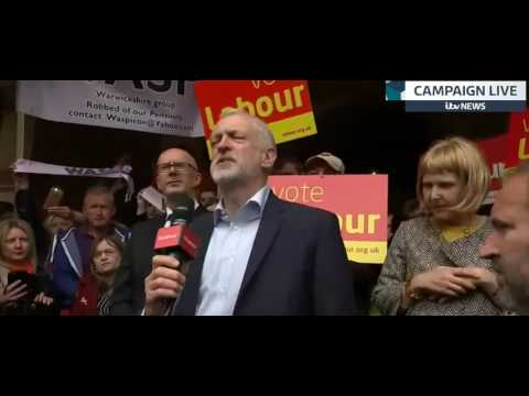Jeremy Corbyn's speech in Leamington Spa on Monday 8 May 2017