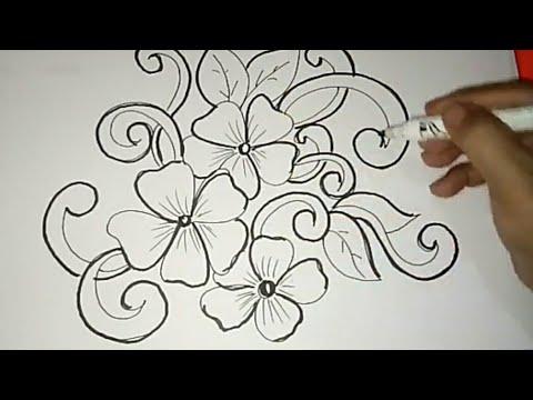Gambar Batik Bunga Ornamen 1 Youtube