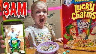 Do Not Call the Leprechaun at 3AM! OMG So Scary! He Takes My Dad!!! Treasure Hunt!