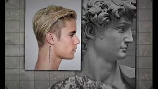 Justin Bieber as a Greek God