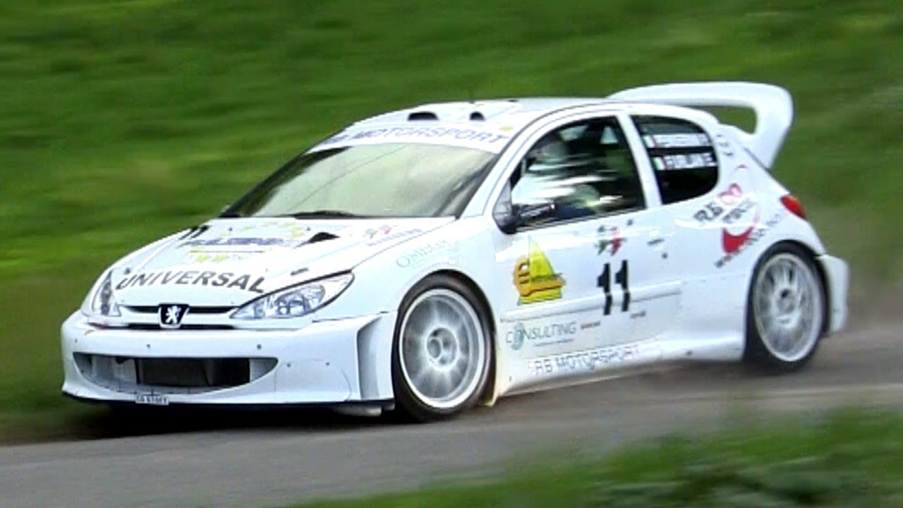 peugeot 206 wrc tribute - sound & loud anti-lag - youtube