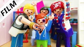 Familie Vogel: PRÜGELBANDE BEI JULIAN ZUHAUSE! STRESS BEIM HAUSBESUCH - Playmobil Film Deutsch