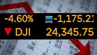 Dow drops more than 1,000 points, worst one-day point loss in history