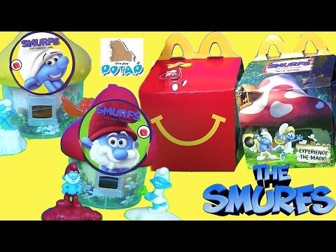 Видео для Детей #Смурфики The Smurfs ЗАТЕРЯННАЯ ДЕРЕВНЯ   Сюрприз Игрушки из Макдональдс