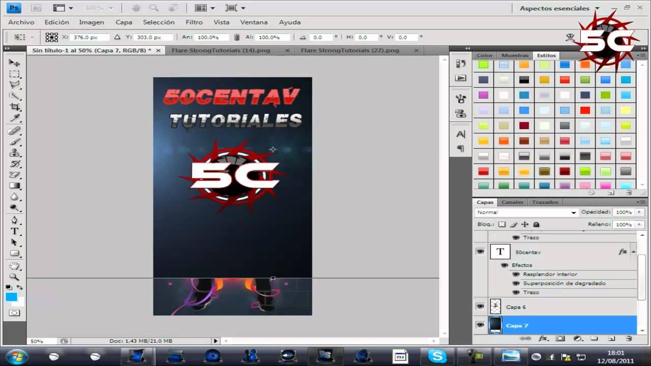TUTORIAL DE PHOTOSHOP: COMPOSICION FOLLETO - YouTube