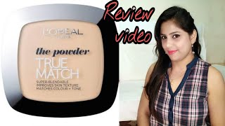 Loreal true match compact review in hindi 16 hr loreal Paris super blendable powder indianyoutuber