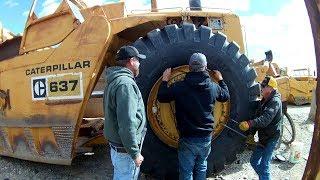 Installing 35's On A Caterpillar 637