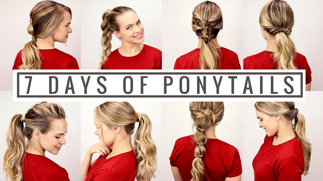 7 days of ponytails!