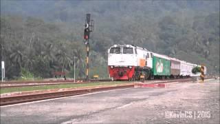 Indonesian Railway : Kereta Api Argo Dwipangga Spesial Melintas Stasiun Karanggandul