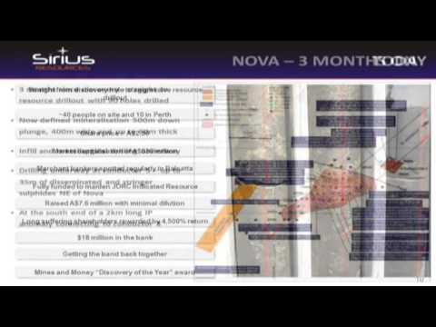 Mark Bennett of Sirius Resources on the Nova Nickel Deposit | Presentation