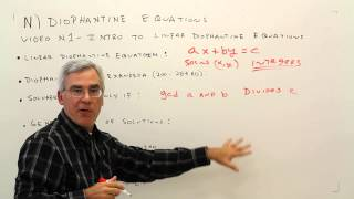 N1--Introduction to Linear Diophantine Equations