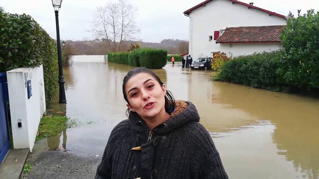 DECEMBRE 2019: Inondations au pays basque. La Nive débordé à Bassussary