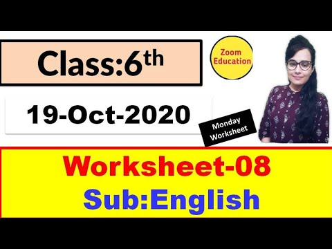 Class 6 English worksheet 8 : 19 Oct 2020 : english worksheet 8 : doe worksheet 8 english class 6
