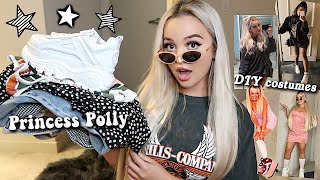*HUGE* PRINCESS POLLY FALL TRY-ON HAUL + LAST MINUTE DIY HALLOWEEN COSTUMES!
