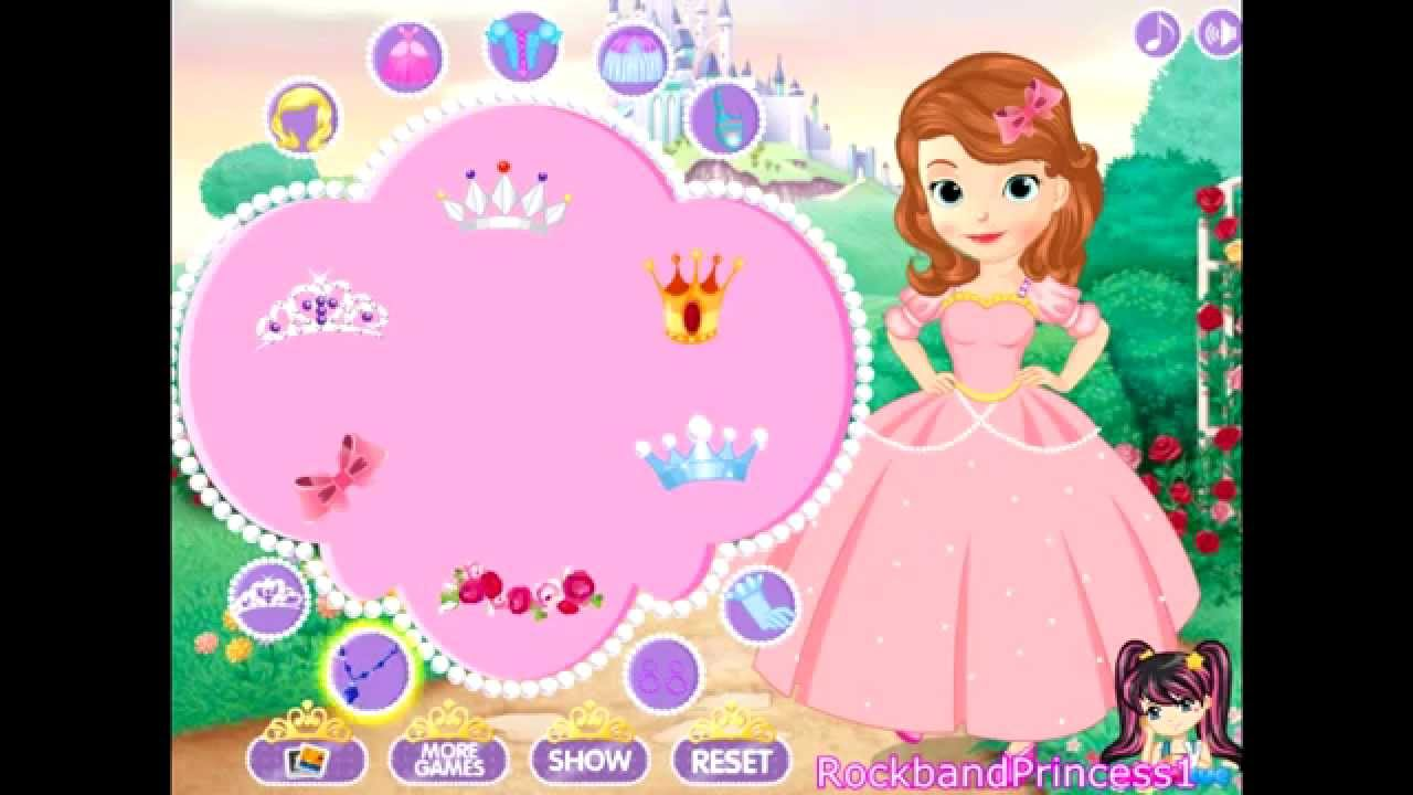 Disney Princess Sofia The First Dress Up Game - YouTube