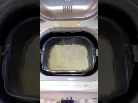 Самодельная лопатка,мешалка,тестомес для хлебопечки,в процессе замешивания теста
