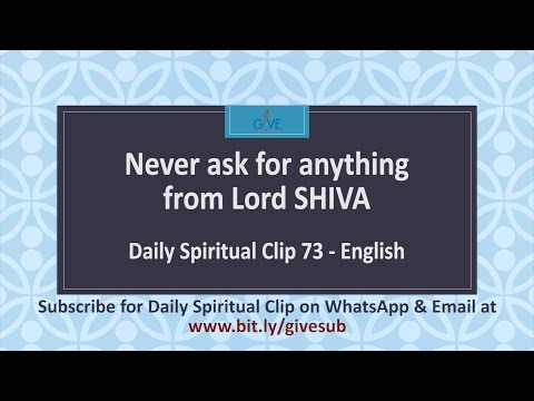 Never ask for anything from Lord Shiva -DSC#073