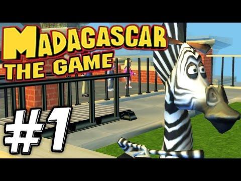 Прохождение игры Мадагаскар - Часть 1 - День рождения Марти.