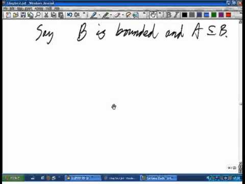 Lecture 3: Math. Analysis - Bounded sets