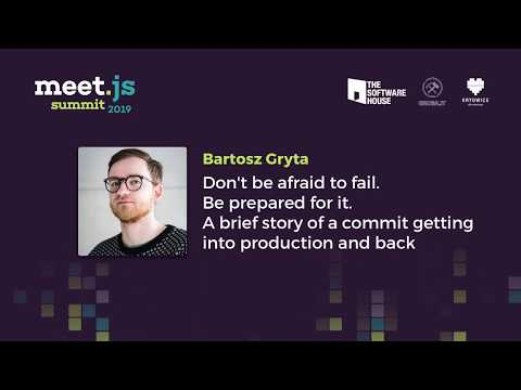 Bartosz Gryta - A Brief Story Of A Commit Getting Into Production And Back